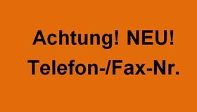 Neue Telefon- und Faxnummern